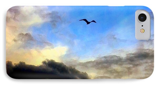 Alone In A Big Sky IPhone Case by Dale   Ford