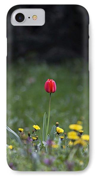 IPhone Case featuring the photograph Alone by Raffaella Lunelli