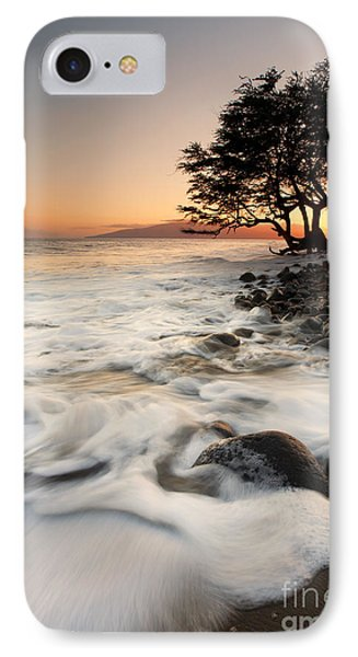Alone With The Sea Phone Case by Mike  Dawson
