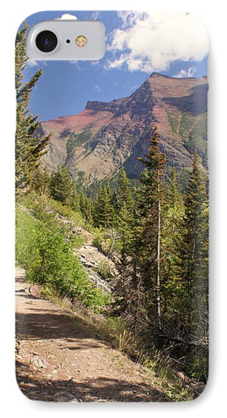 Along St. Mary's Lake Trail Phone Case by Marty Koch