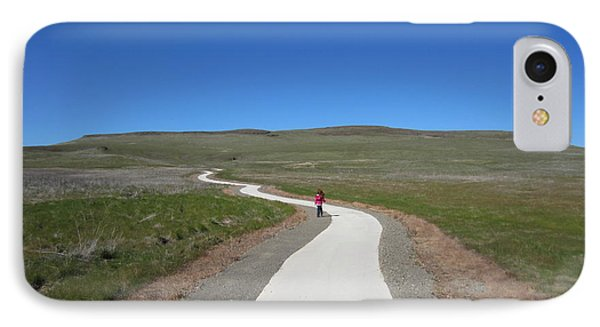 IPhone Case featuring the photograph Along The Path by Laurianna Taylor