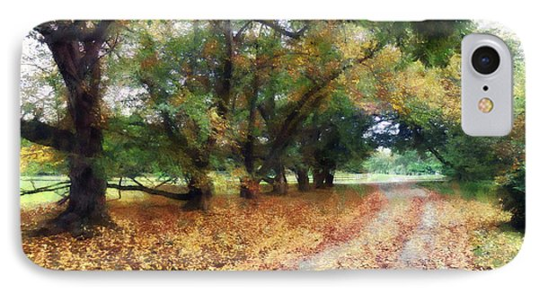 Along The Path Under The Trees Phone Case by Susan Savad