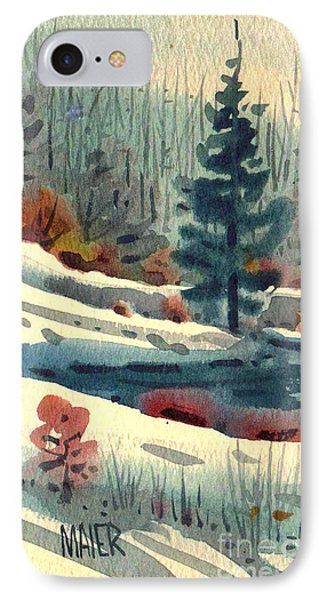 IPhone Case featuring the painting Alpine Meadow by Donald Maier