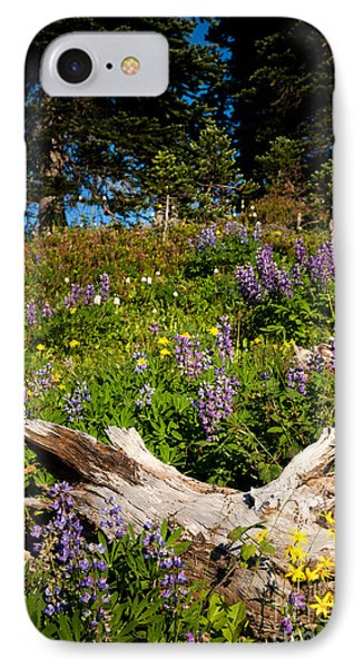 IPhone Case featuring the photograph Alpine Wildflower Meadow by Karen Lee Ensley