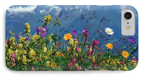 Alpine Wildflowers Phone Case by Hermann Eisenbeiss and Photo Researchers