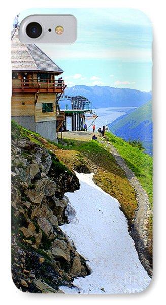 IPhone Case featuring the photograph Alyeska Ski Resort Alaska by Kathy  White