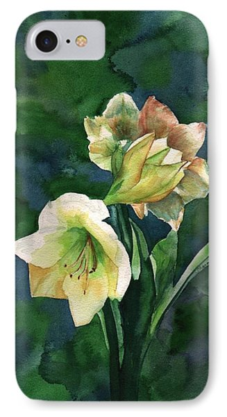 IPhone Case featuring the painting Amaryllis by Sharon Mick