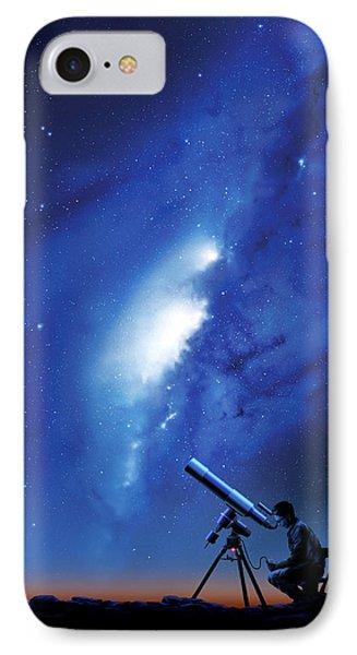 Amateur Astronomy, Computer Artwork Phone Case by Detlev Van Ravenswaay
