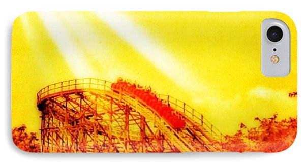 #amazing Shot Of A #rollercoaster At IPhone Case by Pete Michaud