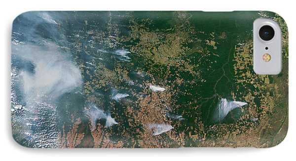 Amazon Basin Forest Fires, Satellite Phone Case by NASA / Science Source