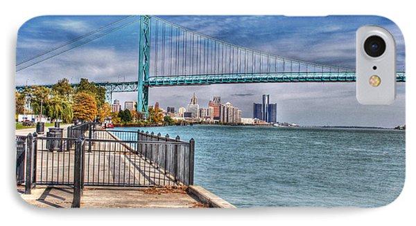 Ambassador Bridge Detroit Mi IPhone Case by Nicholas  Grunas