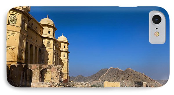 Amber Fort And Blue Sky Phone Case by Inti St. Clair