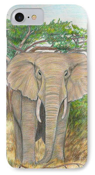 Amboseli Elephant Phone Case by C L Swanner