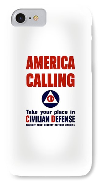America Calling -- Civilian Defense IPhone Case by War Is Hell Store