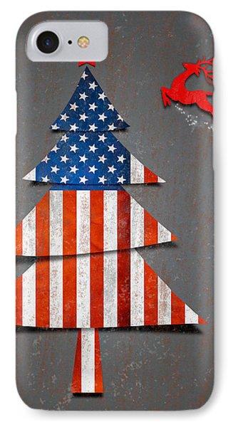 America X'mas Tree Phone Case by Atiketta Sangasaeng