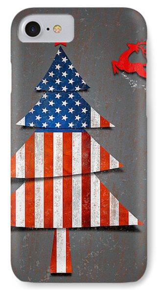 America X'mas Tree IPhone Case by Atiketta Sangasaeng