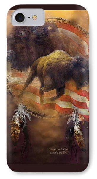 American Buffalo Phone Case by Carol Cavalaris
