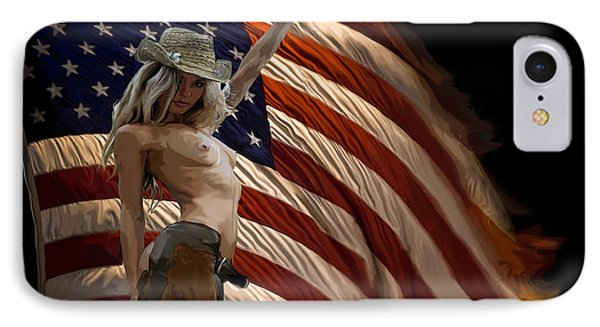 American Cowgirl IPhone Case by Tbone Oliver