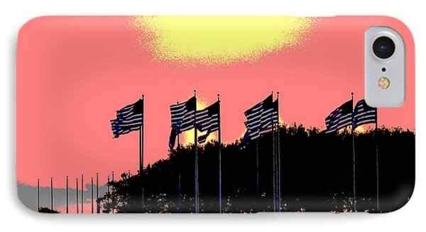 American Flags1 IPhone Case by Zawhaus Photography