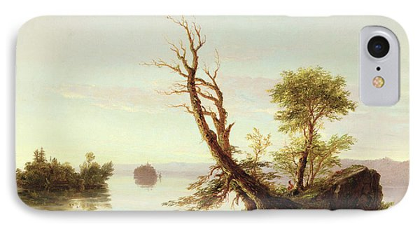 American Lake Scene Phone Case by Thomas Cole
