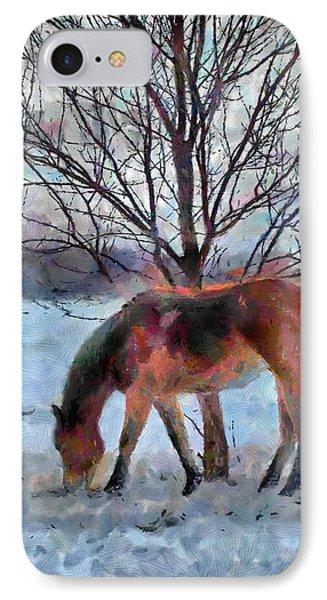 American Paint In Winter Phone Case by Jeff Kolker
