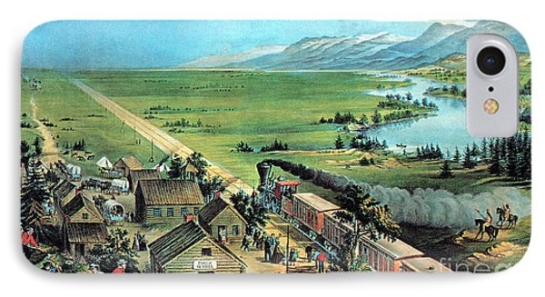 American Transcontinental Railroad IPhone Case by Photo Researchers