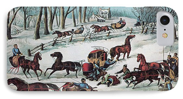 American Winter 1870 Phone Case by Photo Researchers
