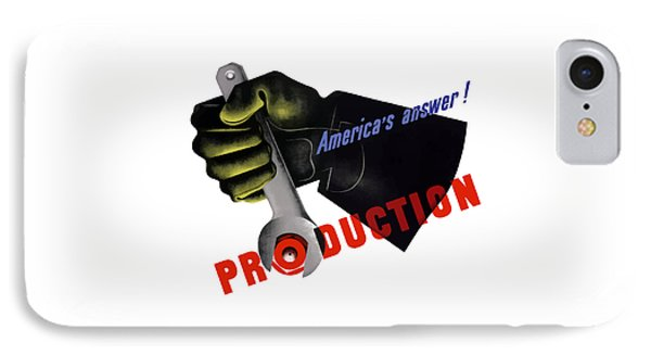 America's Answer -- Production  IPhone Case