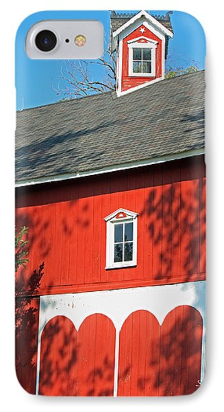 Amish Barn In Shadows Phone Case by Suzanne Gaff