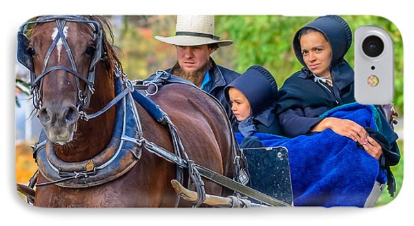 IPhone Case featuring the photograph Amish Family by Brian Stevens