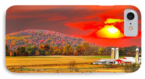 Amish Farm Sundown Phone Case by Randall Branham