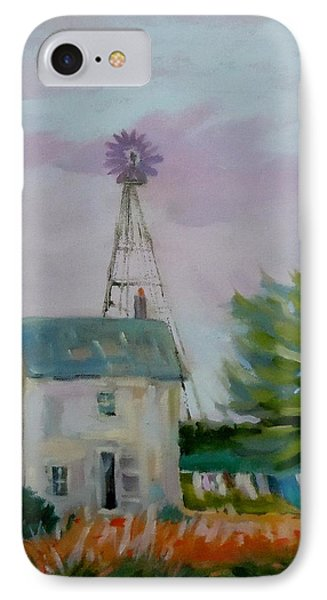 IPhone Case featuring the painting Amish Farmhouse by Francine Frank