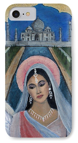 Amishi An Earth Angel Representing A Young Bride On Her Wedding Day Phone Case by The Art With A Heart By Charlotte Phillips