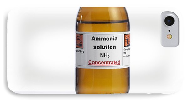 Ammonia Solution, Laboratory Bottle Phone Case by