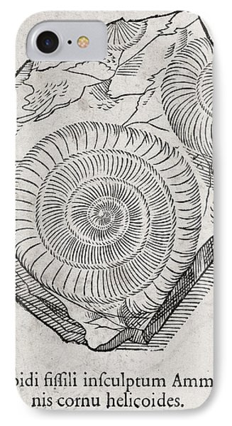 Ammonite Fossil, 16th Century Phone Case by Middle Temple Library