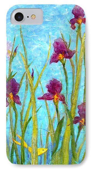 Among The Wild Irises IPhone Case by Carla Parris