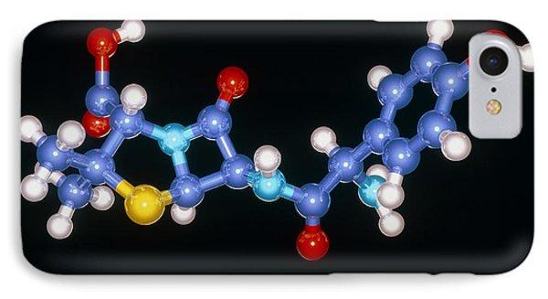 Amoxycillin Drug Molecule Phone Case by Laguna Design