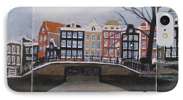 Amsterdam Bridge Layered Phone Case by Anita Burgermeister