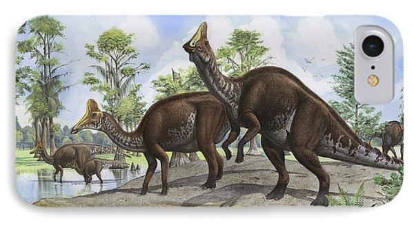 Amurosaurus Riabinini Dinosaurs Grazing Phone Case by Sergey Krasovskiy