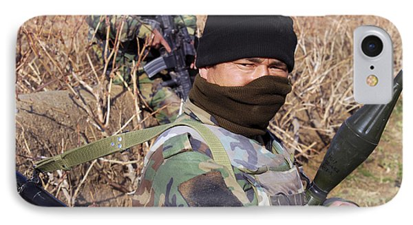 An Afghan Commando On Patrol Phone Case by Stocktrek Images