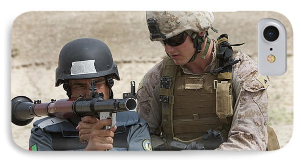 An Afghan Police Student Aiming A Rpg-7 Phone Case by Terry Moore
