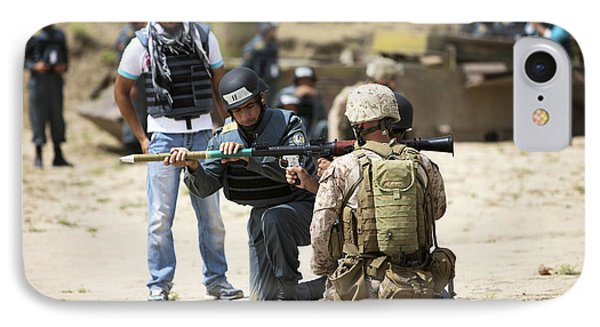An Afghan Police Student Loads A Rpg-7 Phone Case by Terry Moore