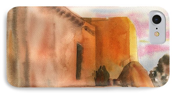 IPhone Case featuring the painting An Age Old Adobe by Sharon Mick