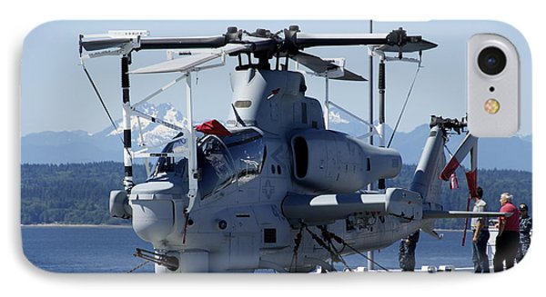 An Ah-1w Cobra Is Chained To The Flight Phone Case by Stocktrek Images