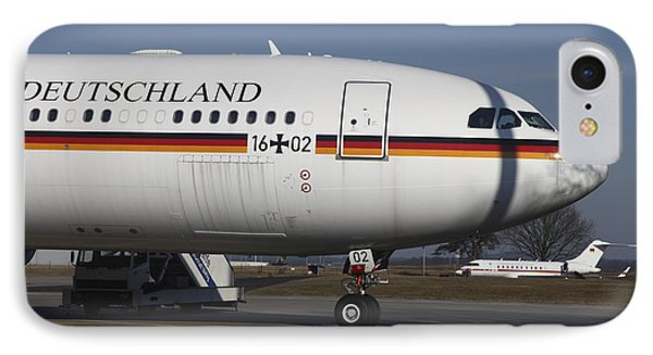An Airbus 340 Acting As Air Force One Phone Case by Timm Ziegenthaler