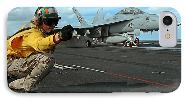 An Airman Gives The Signal To Launch An Phone Case by Stocktrek Images