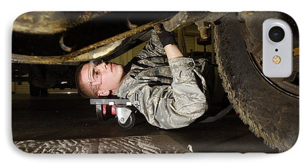 An Airman Inspects The Undercarriage Phone Case by Stocktrek Images