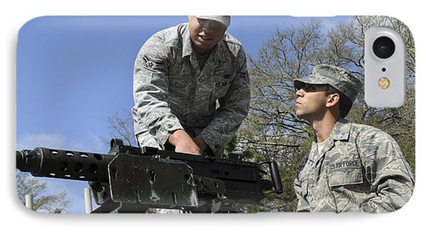 An Airman Instructs A Cadet On How Phone Case by Stocktrek Images