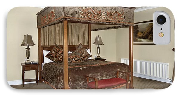 An Antique Style Four Poster Bed Phone Case by Will Burwell