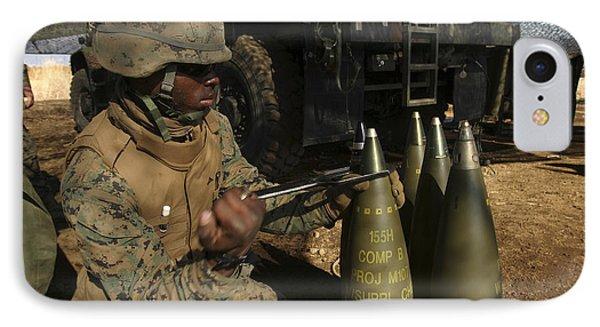 An Artilleryman Places A Fuse Phone Case by Stocktrek Images